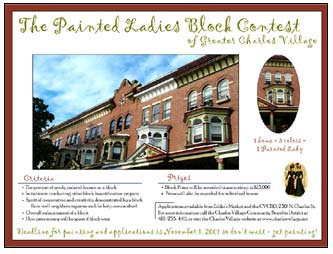 charles village painted ladies contest poster baltimore md