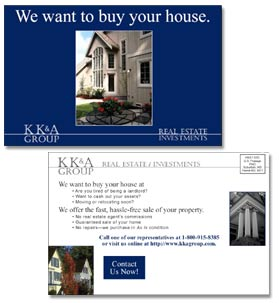 Postcards for New Home Builders, Kevin Kramer and Associates